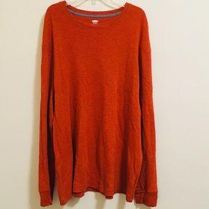 XXL Old Navy Dark Orange Thermal Waffle Knit